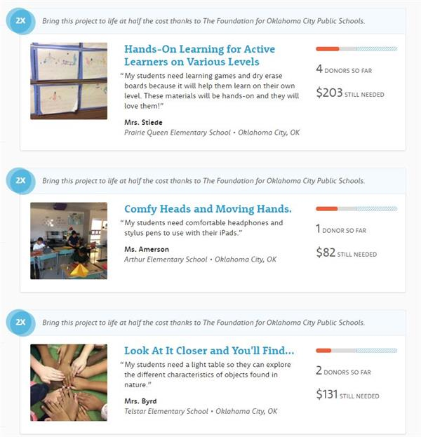 Sample Projects with DonorsChoose