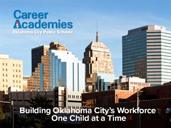 Career Academies Header with OKC City Background