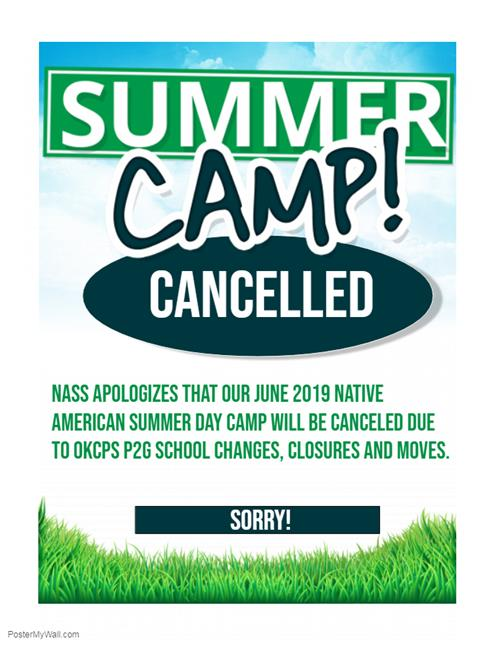 Native American Summer Day Camp Cancelled