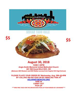 Indian Taco Sale, Aug 30
