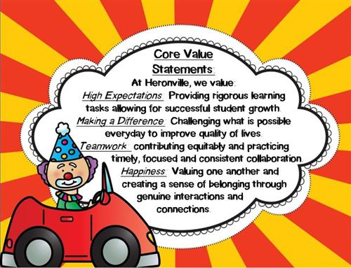 Heronville Core Value Statements