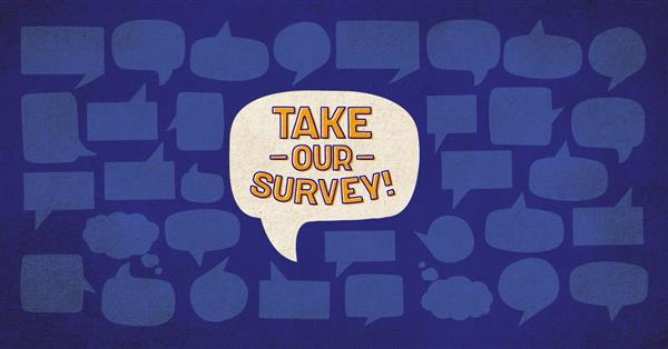 take our survey graphic