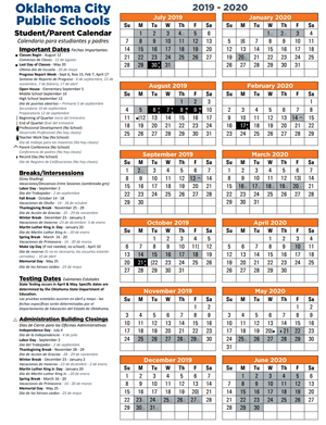 City Tech 2020 Fall Calendar.Calendars Student Calendars
