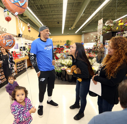 Emerson Student Shops with OKC Thunder MVP